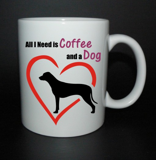 hrnek All I need is coffee and a dog - ridgeback