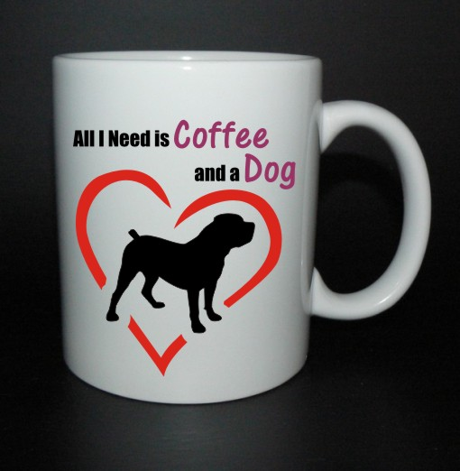 hrnek All I need is coffee and a dog - boerboel
